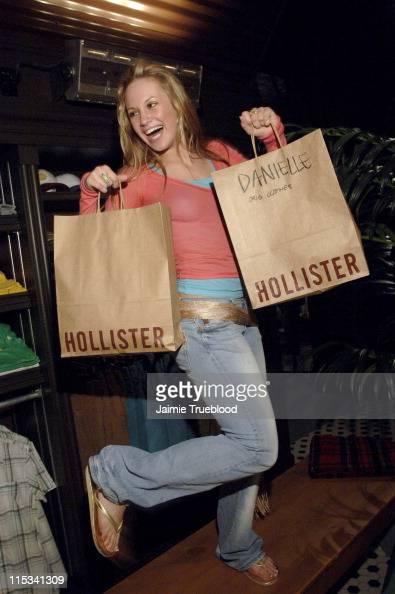 Danielle Savre during Jesse McCartney and 'Summerland' Cast Visit Hollister Store in Newport Beach at Newport Fashion Island in Newport Beach...