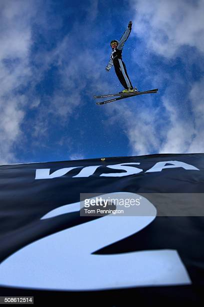 Danielle Scott of Australia jumps during qualifying in the FIS Freestyle Skiing Aerial World Cup at the Visa Freestyle International at Deer Valley...