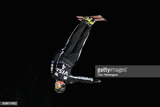 Danielle Scott of Australia jumps in the ladies' final round in the FIS Freestyle Skiing Aerial World Cup at the Visa Freestyle International at Deer...