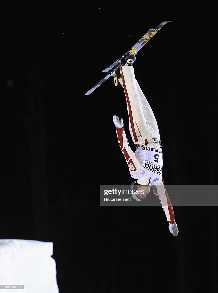 Danielle Scott #5 of Australia jumps in the USANA Freestyle World Cup aerial competition at the Lake Placid Olympic Jumping Complex on January 19, 2013 in Lake Placid, New York.