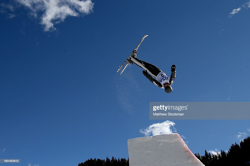 Danielle Scott #5 of Australia jumps while training for the Ladies Aerials during the Visa Freestyle International at Deer Valley on February 1, 2013 in Park City, Utah.
