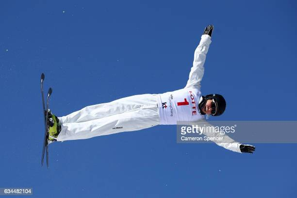 Danielle Scott of Australia performs an aerial during qualifying in the FIS Freestyle Ski World Cup 2016/17 Aerials at Bokwang Snow Park on February...