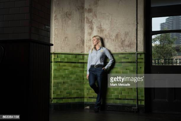 Danielle Scott poses ahead of the Australian Olympic Committee 2018 Winter Olympic Games uniform launch at The Palisade Hotel on October 20 2017 in...
