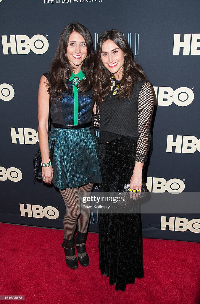 Danielle Snyder and Jodie Snyder attends the 'Beyonce: Life Is But A Dream' New York Premiere at Ziegfeld Theater on February 12, 2013 in New York City.
