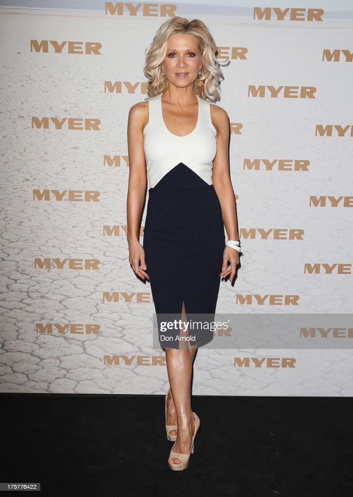 <a gi-track='captionPersonalityLinkClicked' href=/galleries/search?phrase=Danielle+Spencer&family=editorial&specificpeople=206916 ng-click='$event.stopPropagation()'>Danielle Spencer</a> arrives at the Myer Spring/Summer 2014 Collections Launch at Fox Studios on August 8, 2013 in Sydney, Australia.