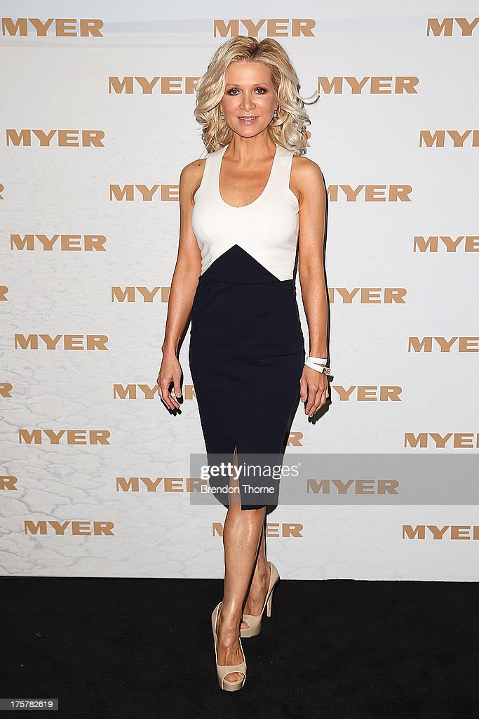 Danielle Spencer arrives at the Myer Spring/Summer 2014 Collections Launch at Fox Studios on August 8, 2013 in Sydney, Australia.