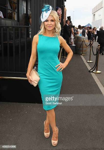 Danielle Spencer attends on Melbourne Cup Day at Flemington Racecourse on November 4 2014 in Melbourne Australia