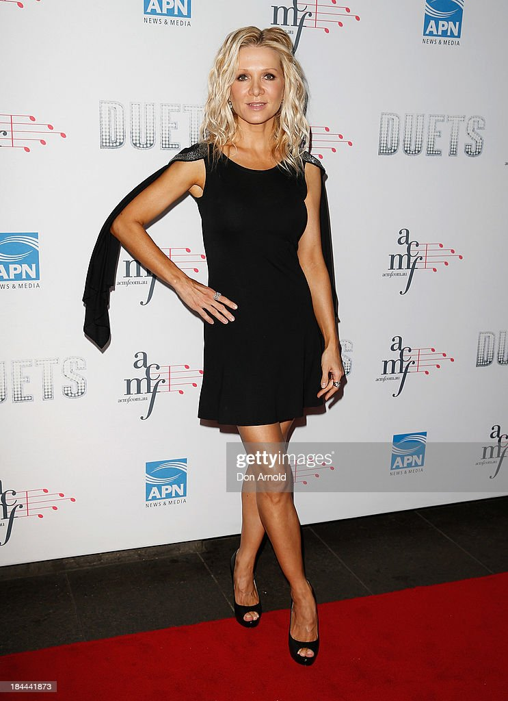 Danielle Spencer poses at the 4th Annual Duets Gala concert at the Capitol Theatre on October 14, 2013 in Sydney, Australia.