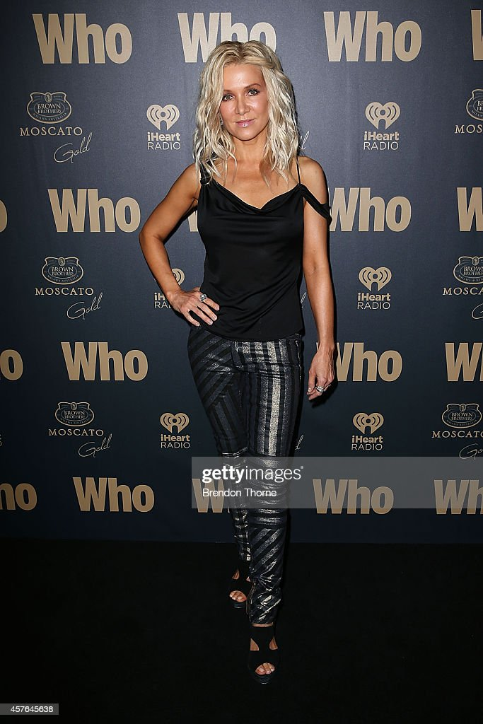 Danielle Spencer poses at WHO's sexiest people party 2014 at Fox Studios on October 22 2014 in Sydney Australia