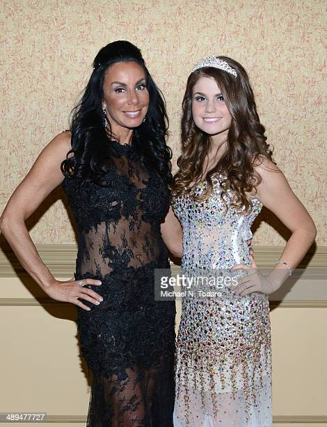 Danielle Staub and Jillian Staub attend Jillian Staub's 'Diamonds In The Dark' Sweet 16 Party at The Wilshire Grand Hotel on May 10 2014 in West...