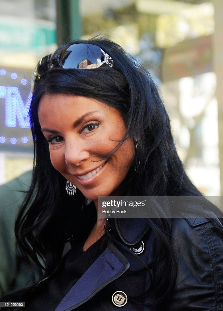 Danielle Staub filming on location for 'Celebrity Apprentice All Stars' on October 16, 2012 in New York City.