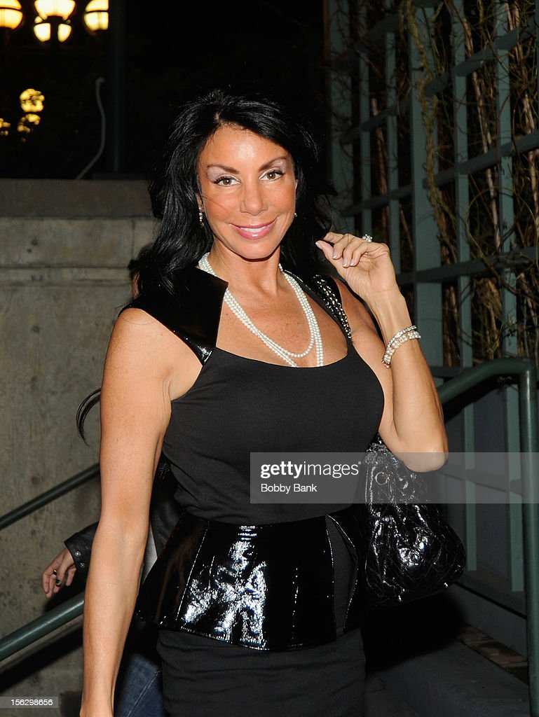 <a gi-track='captionPersonalityLinkClicked' href=/galleries/search?phrase=Danielle+Staub&family=editorial&specificpeople=3564587 ng-click='$event.stopPropagation()'>Danielle Staub</a> filming on location for 'Celebrity Apprentice All Stars' on November 12, 2012 in New York City.