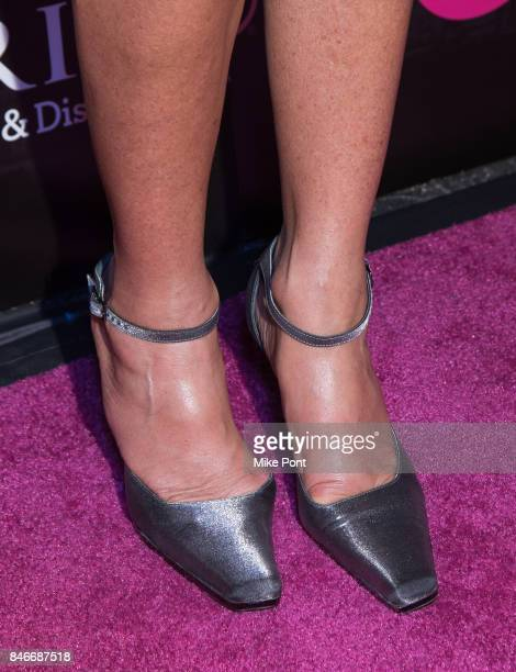 Danielle Staub shoe detail attends OK Magazine's Fall Fashion Week 2017 Event at Hudson Hotel on September 13 2017 in New York City