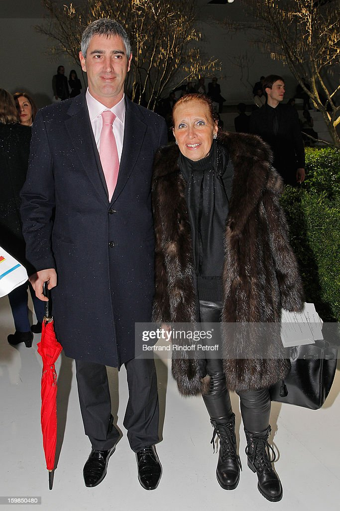 Danielle Steel (R) and guest attend the Christian Dior Spring/Summer 2013 Haute-Couture show as part of Paris Fashion Week at on January 21, 2013 in Paris, France.