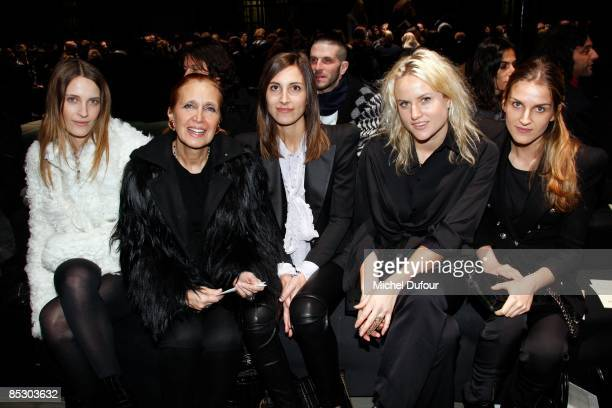 Danielle Steel and her daughters Olympia Scary and Goya Repossi attend the Givenchy ReadytoWear A/W 2009 fashion show during Paris Fashion Week at...