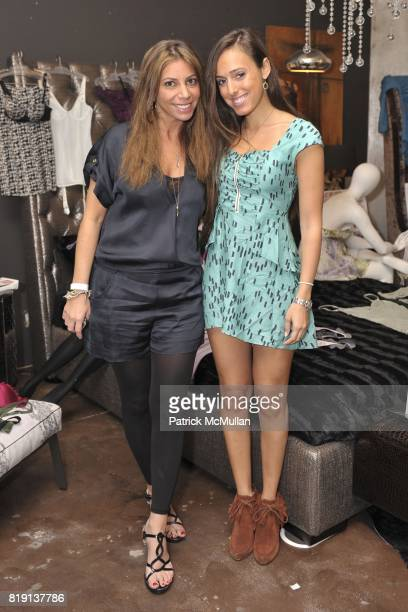 Danielle Thur and Jenna Leigh attend Silver Spoon Presents Oscar Weekend Red Cross Event For Haiti Relief at Interior Illusions on March 3 2010 in...