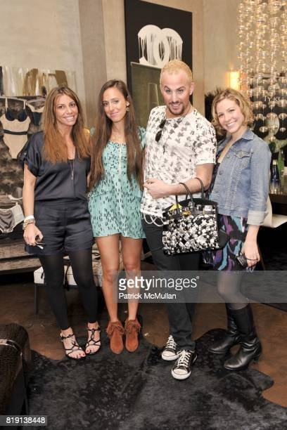 Danielle Thur Jenna Leigh Micah Jesse and Jessie Kohen attend Silver Spoon Presents Oscar Weekend Red Cross Event For Haiti Relief at Interior...