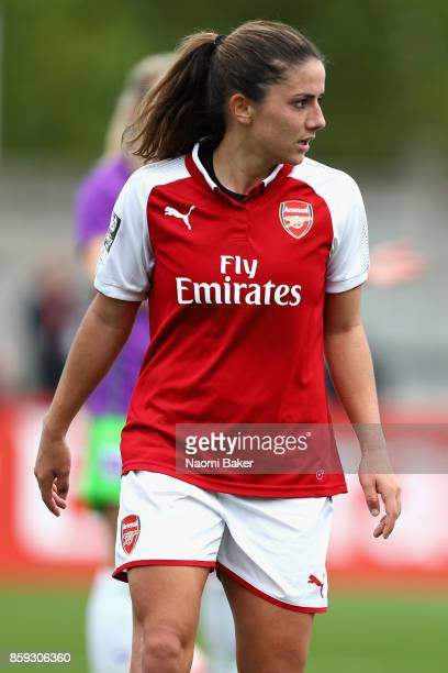Danielle Van De Donk looks on after scoring her sides first goal to equalise with Bristol during the Women's Super League 1 match between Arsenal and...