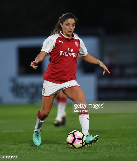 Danielle van de Donk of Arsenal during the match between Arsenal Women and Everton Ladies at Meadow Park on August 31 2017 in Borehamwood England