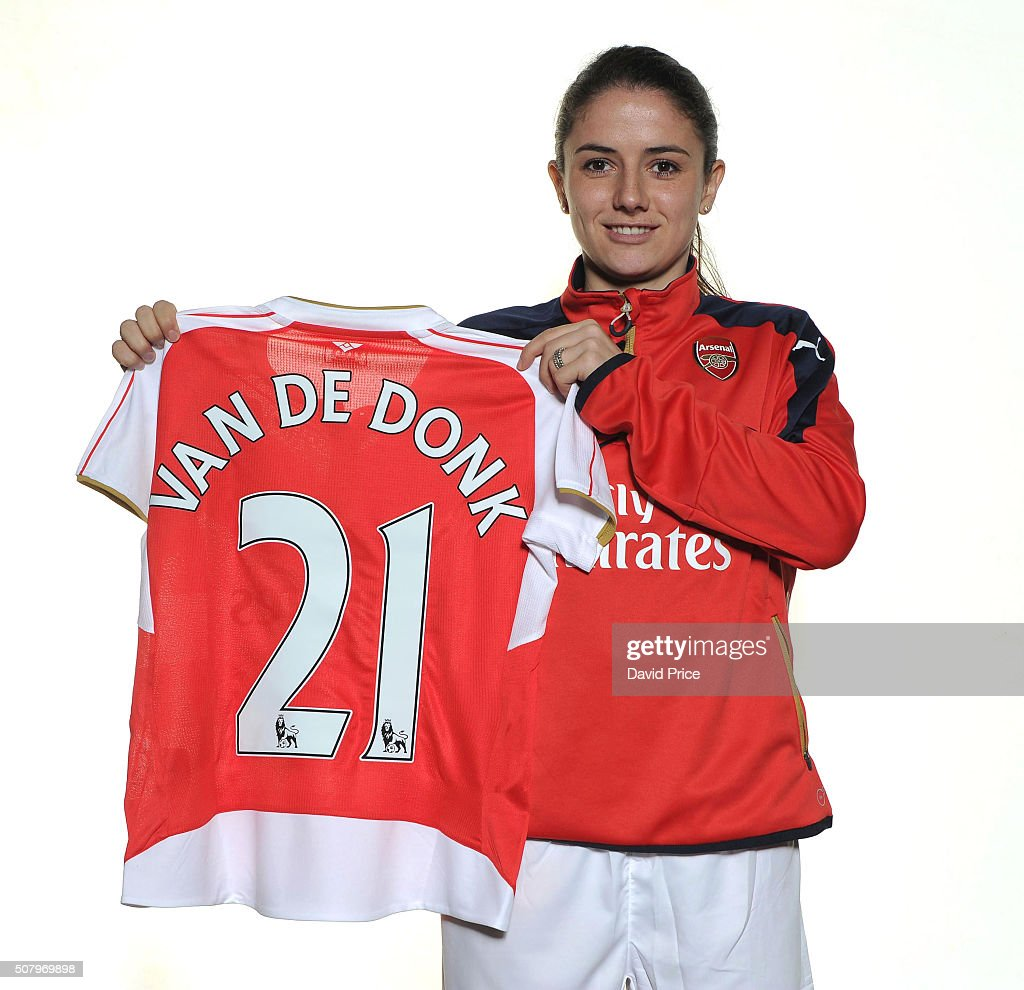 Danielle van de Donk of Arsenal Ladies at London Colney on January 29, 2016 in St Albans, England.