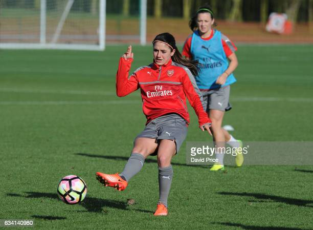 Danielle van de Donk of Arsenal Ladies during Arsenal Ladies Training Session at London Colney on February 7 2017 in St Albans England