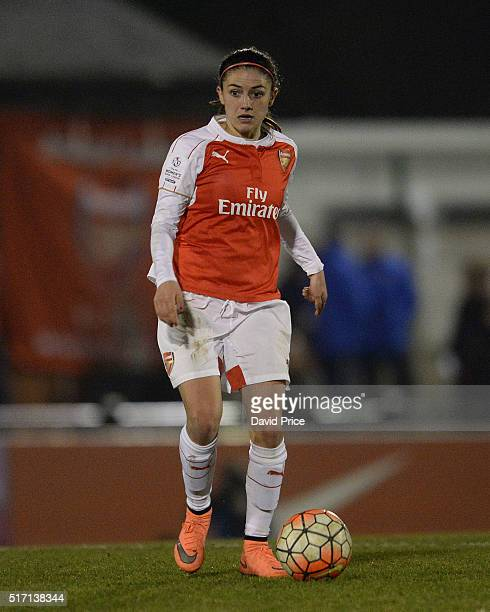 Danielle van de Donk of Arsenal Ladies during the match between Arsenal Ladies and Reading FC Women on March 23 2016 in Borehamwood England