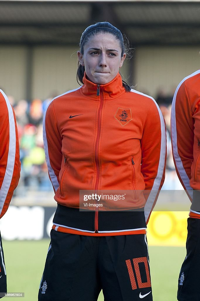 Daniëlle van de Donk of Holland during the Women's international friendly match between Netherlands and Wales, at Tata steel stadium on November 25, 2012 in Velzen-Zuid, Netherlands.