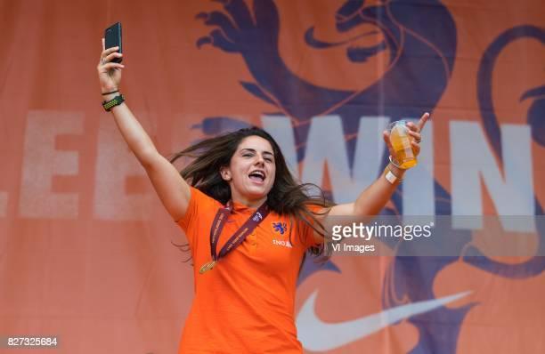 Danielle van de Donk of Holland Women during the honoring of the Netherlands women team at Park Lepelenburg on August 07 2017 in Utrecht the...