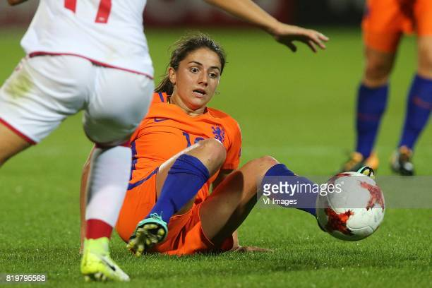 Danielle van de Donk of Holland Women during the UEFA WEURO 2017 Group A group stage match between The Netherlands and Denmark at the Sparta stadium...