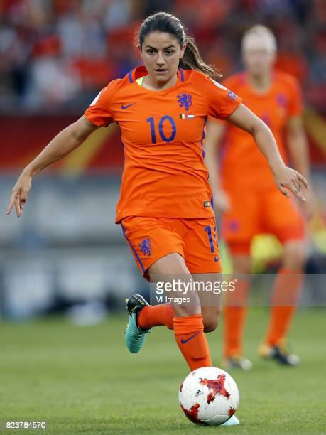 Danielle van de Donk of Holland Women during the UEFA WEURO 2017 Group A group stage match between Belgium and The Netherlands at Koning Willem II...