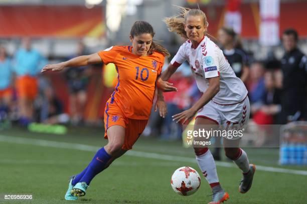 Danielle van de Donk of Holland Women Frederikke Thogersen of Denmark women during the UEFA WEURO 2017 final match between The Netherlands and...