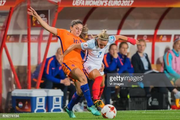 Danielle van de Donk of Holland Women Jordan Nobbs of England women during the semifinal UEFA WEURO 2017 match between The Netherlands and England at...