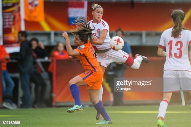 Danielle van de Donk of Holland Women Sanne Troelsgaard of Denmark women during the UEFA WEURO 2017 final match between The Netherlands and Denmark...