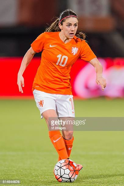 Danielle van de Donk of the Netherlands during the 2016 UEFA Women's Olympic Qualifying Tournament match between Netherlands and Sweden on March 9...
