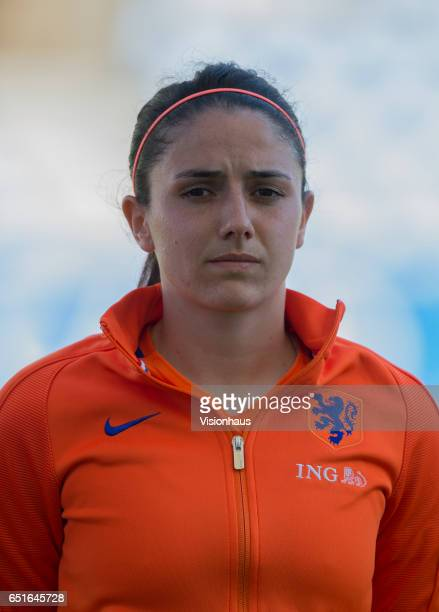 Danielle Van De Donk of The Netherlands during the Fifth Place 2017 Algarve Cup match between Japan and The Netherlands at the Estadio Algarve on...