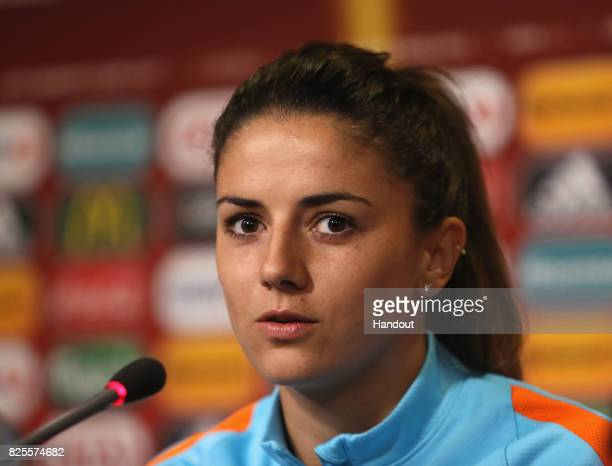 Danielle van de Donk of the Netherlands during the Netherlands Press Conference at FC Twente Stadion on August 2 2017 in Enschede Netherlands