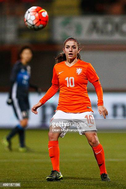 Danielle van de Donk of the Netherlands in action during the International Friendly match between Netherlands and Japan held at Kras Stadion on...