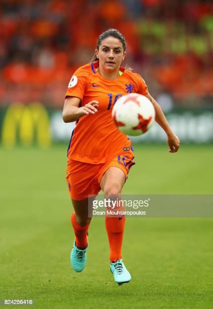 Danielle van de Donk of the Netherlands in action during the UEFA Women's Euro 2017 Quarter Final match between Netherlands and Sweden at Stadion De...
