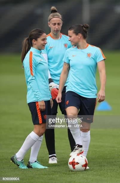 Danielle van de Donk of the Netherlands Sari van Veenendaal of the Netherlands and Sherida Spitse of the Netherlands during the Netherlands Training...