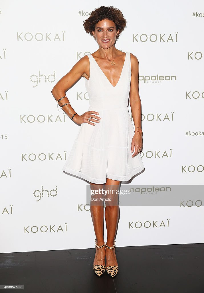 Danielle Wagner poses at Kookai Fashion Show SS14/15 at Carriageworks on August 20, 2014 in Sydney, Australia.