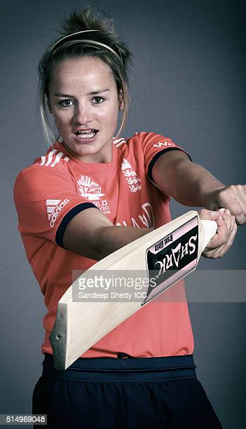 Danielle Wyatt of England during the photocall of the England team ahead of the Women's ICC World Twenty20 India 2016 on March 9 2016 in Chennai India