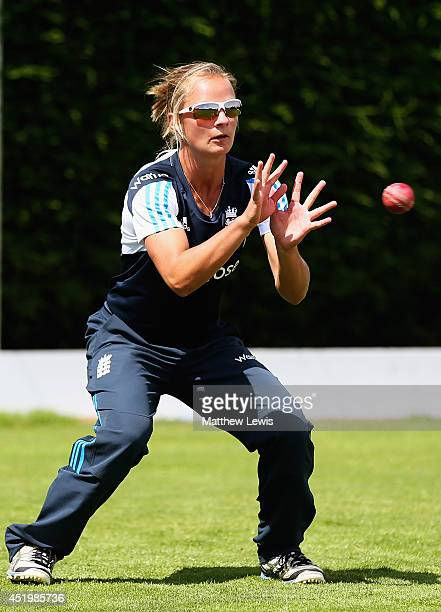 Danielle Wyatt of England in action at the ECB National Performance Centre on July 10 2014 in Loughborough England