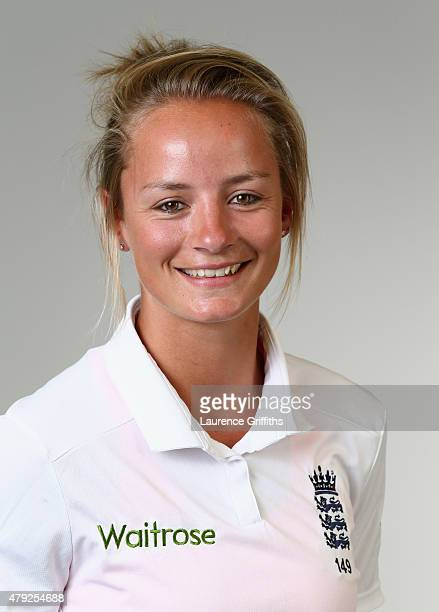 Danielle Wyatt of England poses for a portrait at the National Cricket Performance Centre on July 1 2015 in Loughborough England