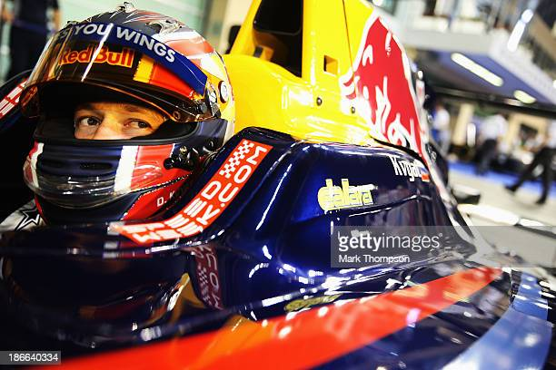 Daniil Kvyat of Russia and Arden competes in the GP3 race at the Yas Marina Circuit on November 2 2013 in Abu Dhabi United Arab Emirates