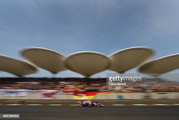 Daniil Kvyat of Russia and Infiniti Red Bull Racing drives during qualifying for the Formula One Grand Prix of China at Shanghai International...