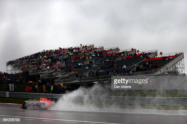 Daniil Kvyat of Russia and Infiniti Red Bull Racing drives during qualifying before the United States Formula One Grand Prix at Circuit of The...
