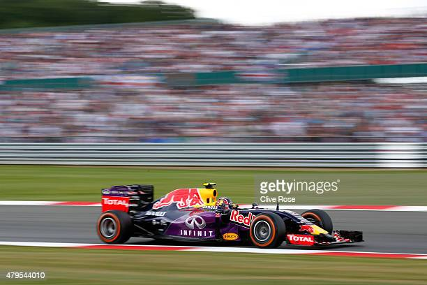 Daniil Kvyat of Russia and Infiniti Red Bull Racing drives during the Formula One Grand Prix of Great Britain at Silverstone Circuit on July 5 2015...