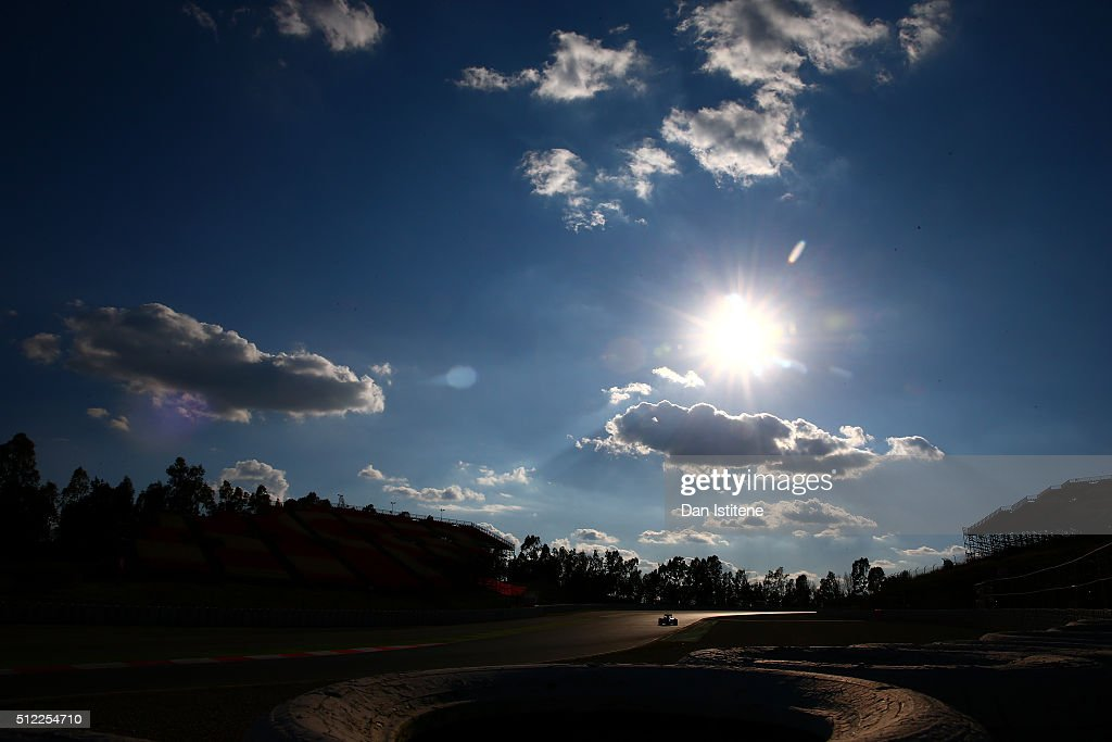 Daniil Kvyat of Russia and Red Bull Racing drives during day four of F1 winter testing at Circuit de Catalunya on February 25, 2016 in Montmelo, Spain.