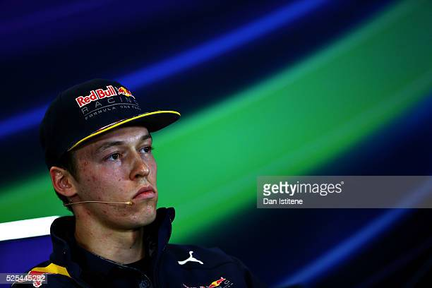 Daniil Kvyat of Russia and Red Bull Racing in the Drivers Press Conference during previews ahead of the Formula One Grand Prix of Russia at Sochi...