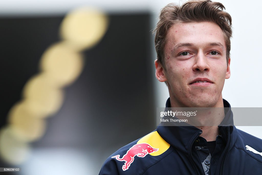 <a gi-track='captionPersonalityLinkClicked' href=/galleries/search?phrase=Daniil+Kvyat&family=editorial&specificpeople=10936016 ng-click='$event.stopPropagation()'>Daniil Kvyat</a> of Russia and Red Bull Racing in the Paddock during practice for the Formula One Grand Prix of Russia at Sochi Autodrom on April 29, 2016 in Sochi, Russia.